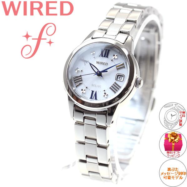 41aec0168e セイコーワイアードエフSEIKOWIREDfソーラー腕時計レディースAGED078