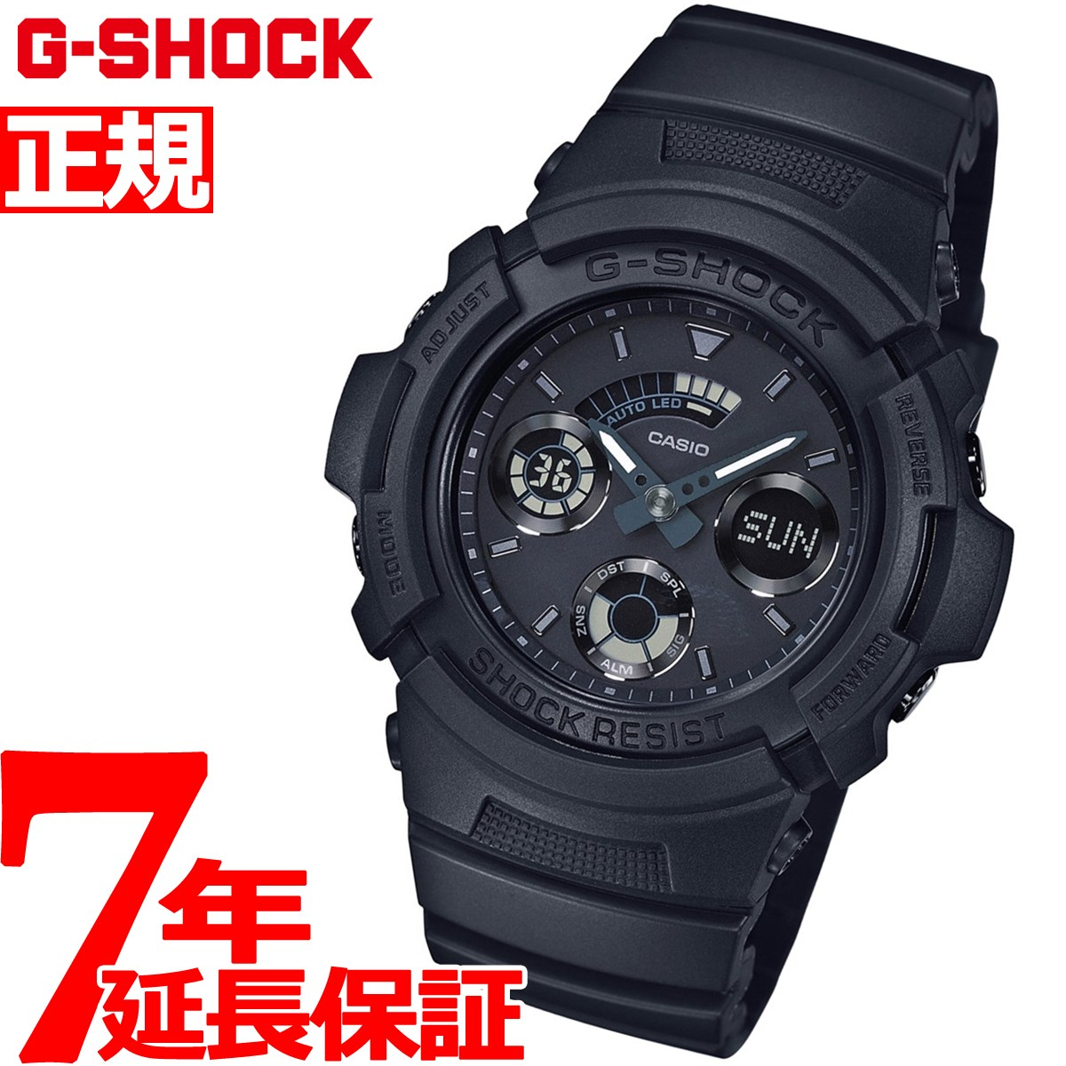 G-SHOCK ブラック アナデジ 腕時計 メンズ AW-591BB-1AJF
