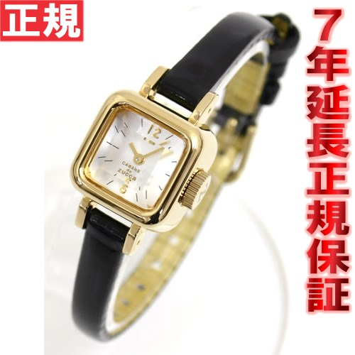 ズッカ ZUCCA キャラメル CABANE de ZUCCa カバン ド ズッカ 腕時計 レディース CARAMEL ブラック AWGP007