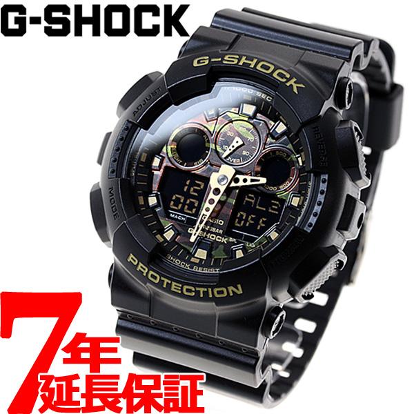 【5日0時~♪2000円OFFクーポン&店内ポイント最大51倍!5日23時59分まで】G-SHOCK ブラック カモフラージュダイアル 腕時計 メンズ アナデジ GA-100CF-1A9JF
