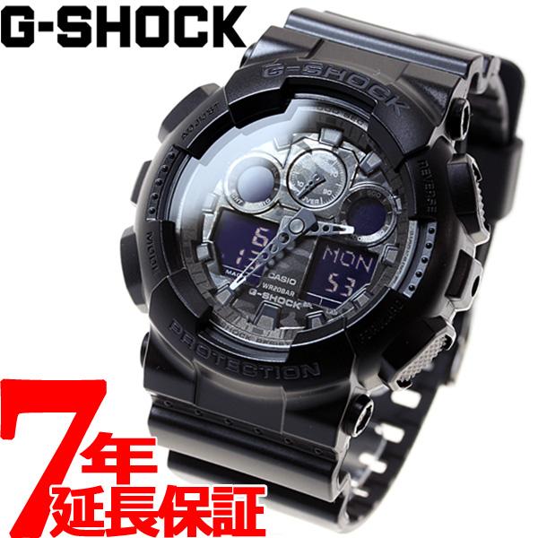 【5日0時~♪2000円OFFクーポン&店内ポイント最大51倍!5日23時59分まで】G-SHOCK ブラック カモフラージュダイアル 腕時計 メンズ アナデジ GA-100CF-1AJF