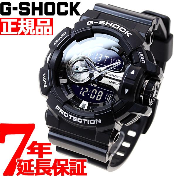 ニールがお得!今ならポイント最大39倍!10日23時59分まで! G-SHOCK ブラック 腕時計 メンズ アナデジ GA-400GB-1AJF