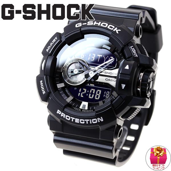 【残り僅か!】最大2000円OFFクーポンは16日9時59分まで!G-SHOCK ブラック 腕時計 メンズ アナデジ GA-400GB-1AJF