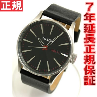 【SHOP OF THE YEAR 2018 受賞】ニクソン NIXON 腕時計 SENTRY LEATHER NA105000-00 ブラック