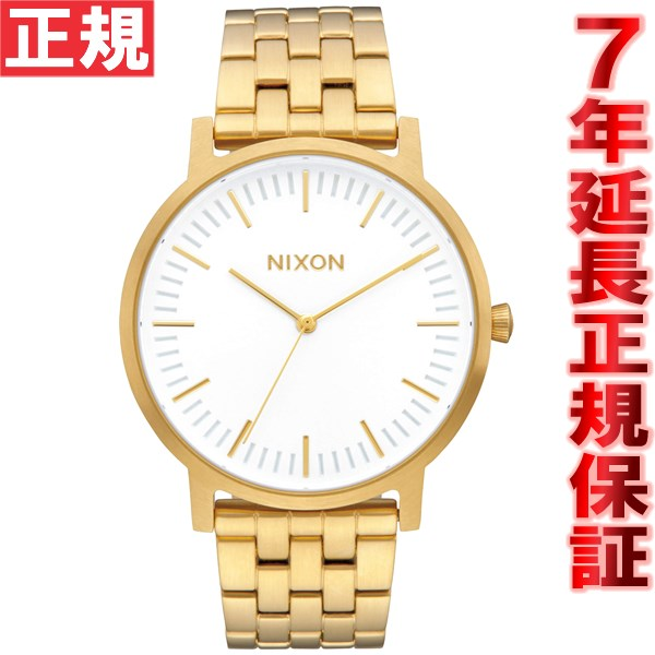 【SHOP OF THE YEAR 2018 受賞】ニクソン NIXON ポーター PORTER 腕時計 メンズ オールゴールド/ホワイトサンレイ NA10572443-00