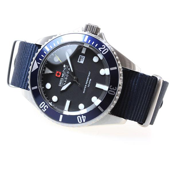 スイスミリタリー SWISS MILITARY 腕時計 メンズ ネイビー NAVY ML414