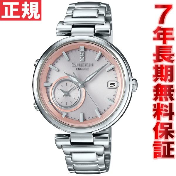 カシオ シーン CASIO SHEEN Bluetooth ブルートゥース 対応 ソーラー 腕時計 レディース ボヤージュタイムリング タフソーラー SHB-100D-4AJF