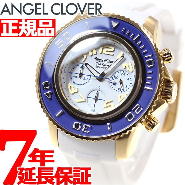 【お買い物マラソンは当店がお得♪本日20より!】エンジェルクローバー Angel Clover 腕時計 メンズ シークルーズ SEA CRUISE ダイバーズウォッチ クロノグラフ SC47YBU-WH