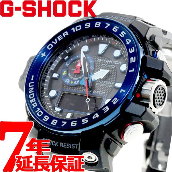 G-SHOCK 電波 ソーラー 電波時計 ブラック Gショック ガルフマスター 腕時計 メンズ アナデジ タフソーラー GWN-1000B-1BJF