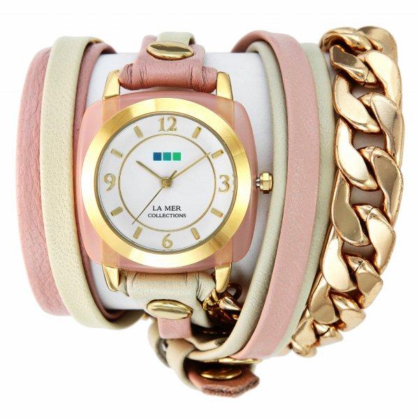【お買い物マラソンは当店がお得♪本日20より!】ラメール コレクション LA MER COLLECTIONS 腕時計 ACETATE- CHAIN アセテートチェーン LMMULTIACE002