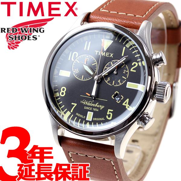 タイメックス TIMEX ウォーターベリー レッドウィング Waterbury Red Wing Shoe Leather 日本先行モデル 腕時計 メンズ クロノグラフ TW2P84300