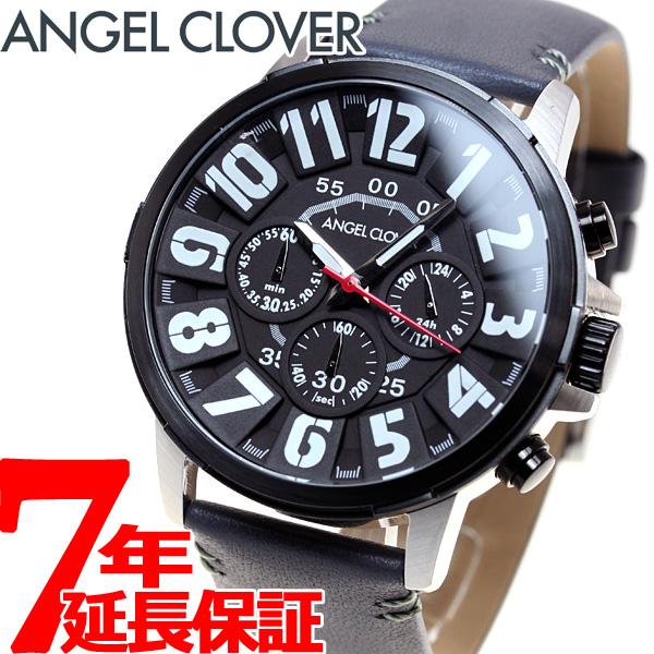 【5日0時~♪10%OFFクーポン&店内ポイント最大51倍!5日23時59分まで】エンジェルクローバー Angel Clover 腕時計 メンズ バンプ Bump クロノグラフ BU44BK-GRY