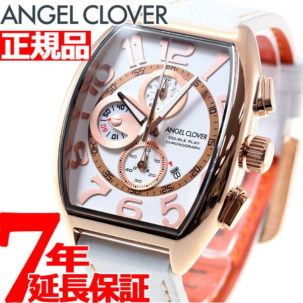 エンジェルクローバー Angel Clover 腕時計 メンズ ダブルプレイ クロノグラフ DP38PWH-WH