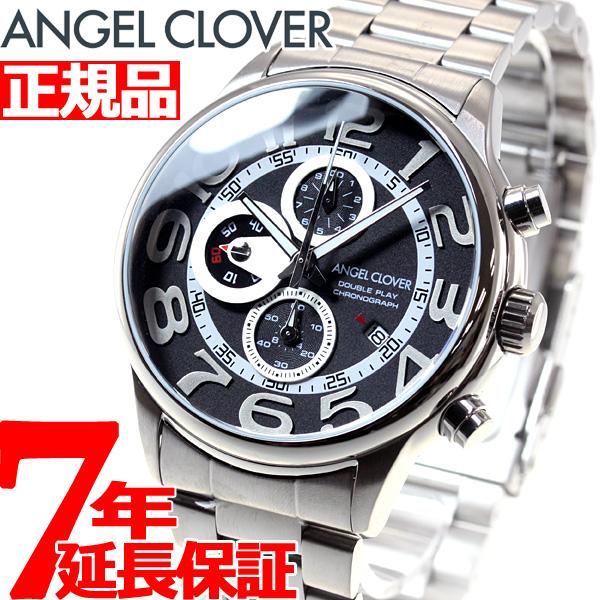 エンジェルクローバー Angel Clover 腕時計 メンズ ダブルプレイ DOUBLE PLAY クロノグラフ DP44SBK