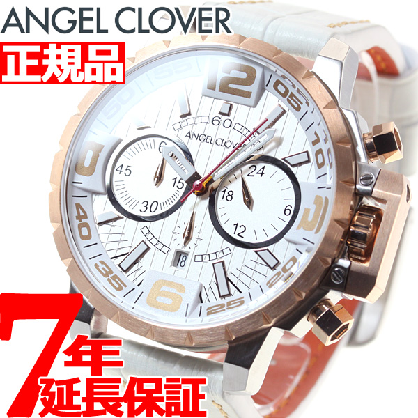 【SHOP OF THE YEAR 2018 受賞】エンジェルクローバー Angel Clover 腕時計 メンズ タイムクラフト TIME CRAFT クロノグラフ NTC48PG-WH