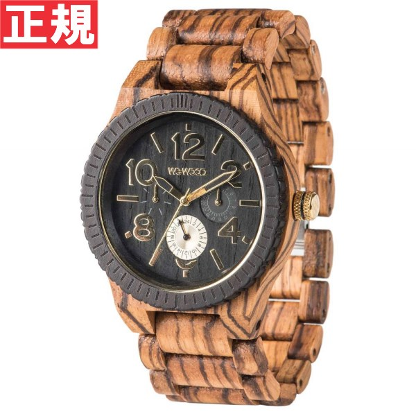 WEWOOD ウィーウッド 腕時計 メンズ 木製 マルチファンクション KARDO ZEBRANO 9818122
