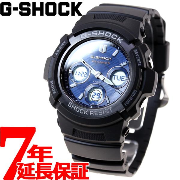 G-SHOCK 電波 ソーラー 電波時計 ブラック 腕時計 メンズアナデジ タフソーラー AWG-M100SB-2AJF