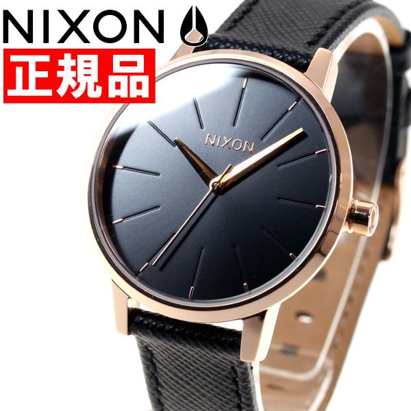ニクソン NIXON ケンジントンレザー KENSINGTON LEATHER 腕時計 レディース ローズゴールド/ブラック NA1081098-00