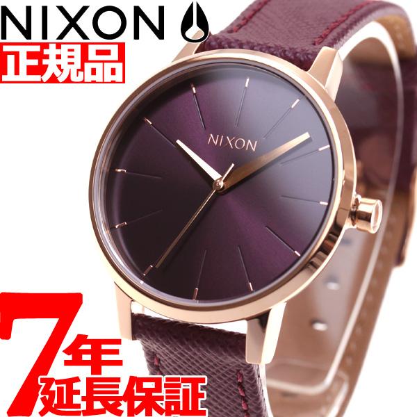 ニクソン NIXON ケンジントンレザー KENSINGTON LEATHER 腕時計 レディース ローズゴールド/ボルドー NA1082479-00