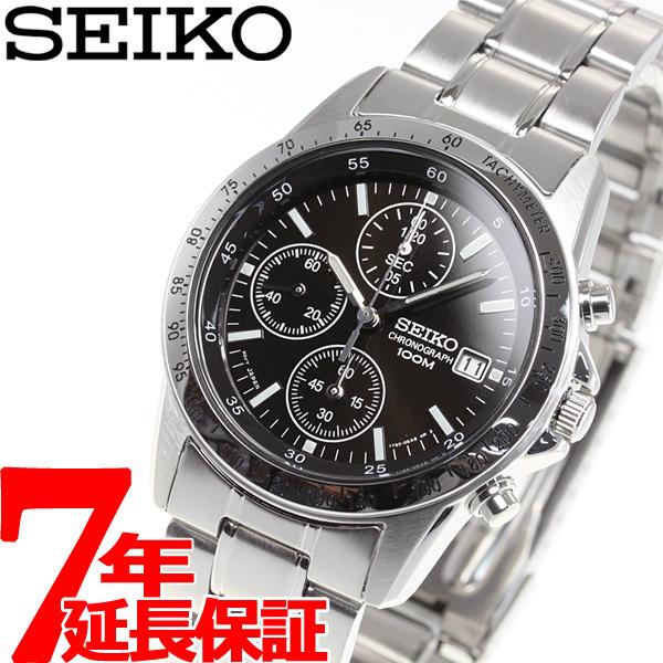 セイコー逆輸入 SEIKO クロノグラフ ブラック 腕時計 メンズ 100m防水 SND367P1
