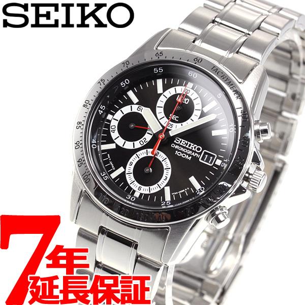セイコー SEIKO 逆輸入 SEIKO クロノグラフ 腕時計 SND371P1 100M防水