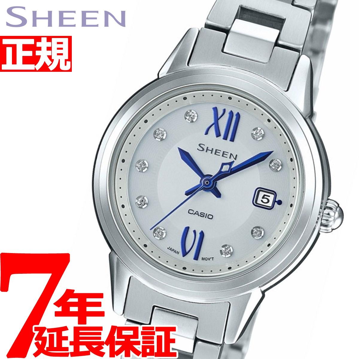 カシオ シーン CASIO SHEEN ソーラー 腕時計 レディース SHS-4500D-7AJF