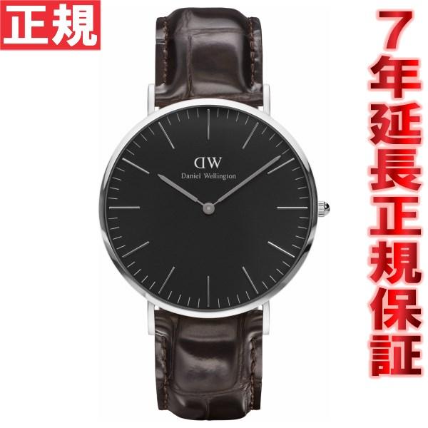 ダニエルウェリントン DANIEL WELLINGTON 腕時計 メンズ/レディース クラッシックブラック ヨーク シルバー 40mm DW00100134