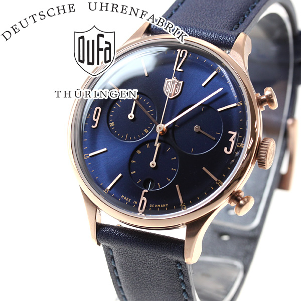 DUFA ドゥッファ 腕時計 メンズ ファン・デル・ローエ クロノ VAN DER ROHE CHRONO ネイビーコレクション DF-9002-09【正規品】
