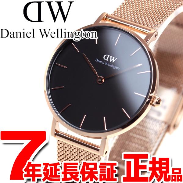 ダニエルウェリントン DANIEL WELLINGTON 腕時計 レディース クラッシックブラックペティット メルローズ ローズゴールド 32mm DW00100161