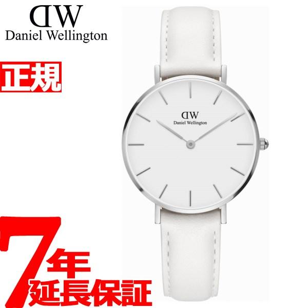 ダニエルウェリントン DANIEL WELLINGTON 腕時計 レディース クラッシックペティット ボンダイ ホワイト シルバー 32mm DW0010090