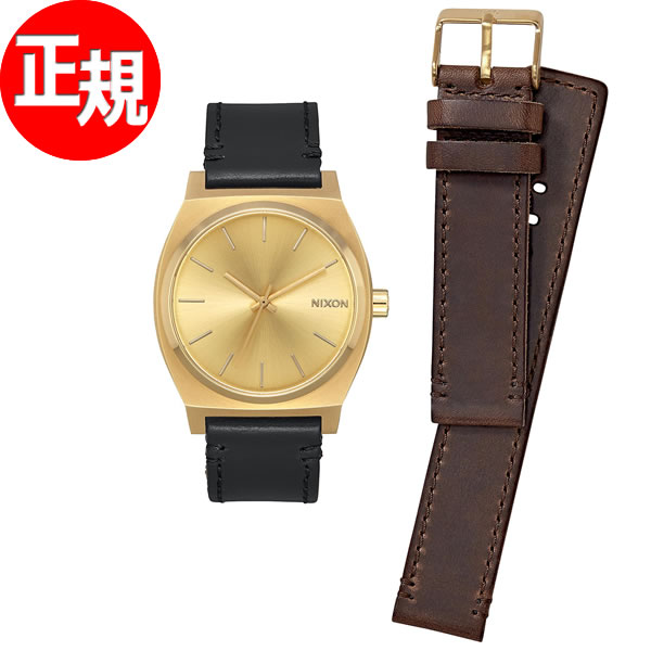 ニクソン NIXON タイムテラー パック TIME TELLER PACK 腕時計 メンズ/レディース オールゴールド/ブラック/ブラウン NA11372591-00