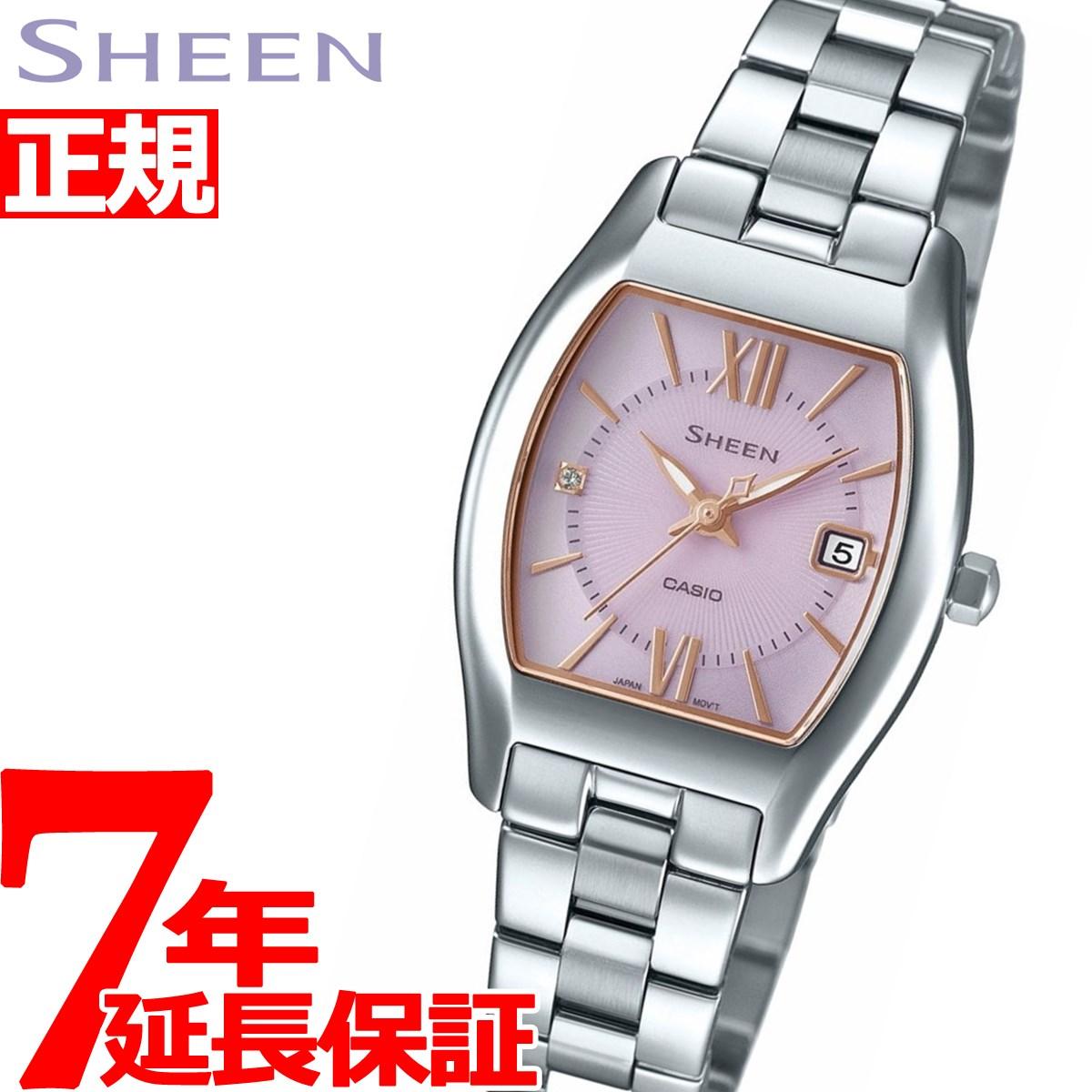 【お買い物マラソンは当店がお得♪本日20より!】カシオ シーン CASIO SHEEN ソーラー 腕時計 レディース SHS-4501D-4AJF