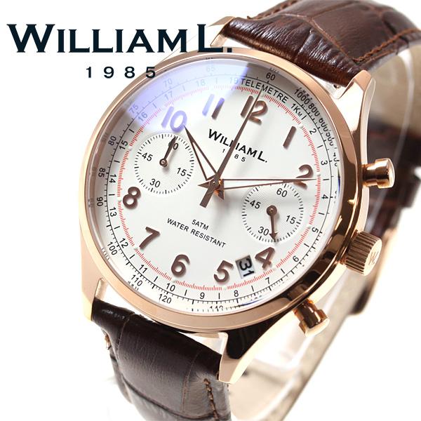 【お買い物マラソンは当店がお得♪本日20より!】ウィリアムエル1985 WILLIAM L.1985 腕時計 メンズ WLOR01BCORCM