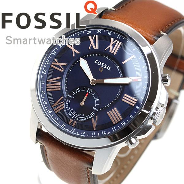 フォッシル FOSSIL ハイブリッド スマートウォッチ ウェアラブル Q GRANT 腕時計 メンズ FTW1122