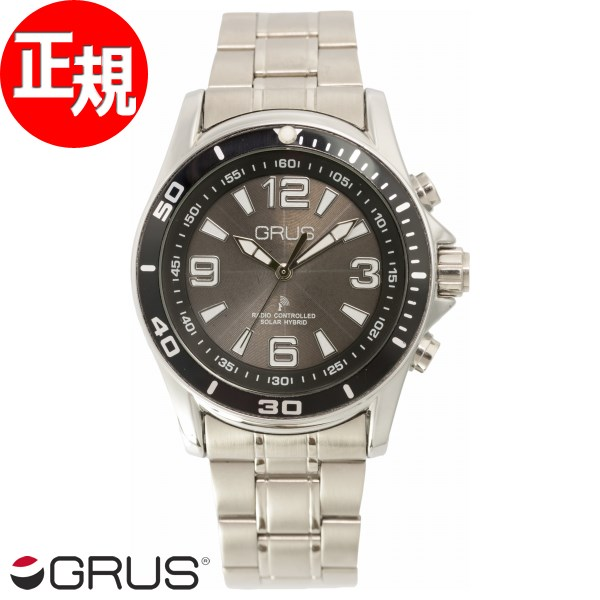GRUS グルス 音声時計 ボイス電波 ソーラー トーキングウォッチ 腕時計 メンズ GRS004-02