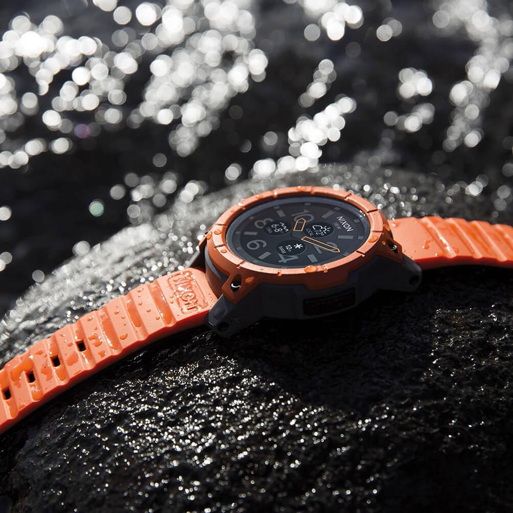 ニクソン NIXON ミッション MISSION スマートウォッチ 腕時計 メンズ オレンジ/グレイ/ブラック NA11672658-00