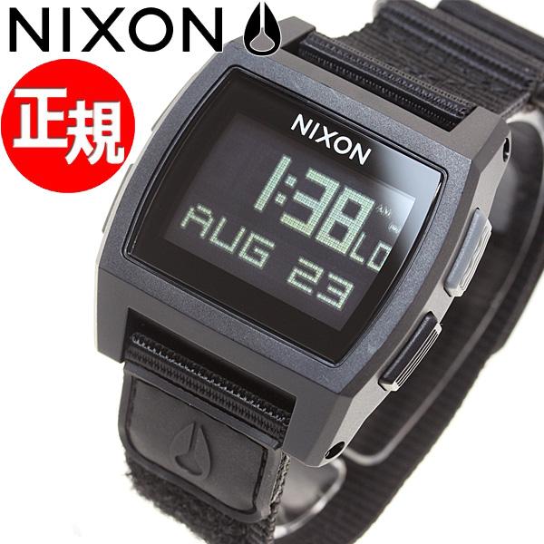 ニクソン NIXON ベースタイド ナイロン BASE TIDE NYLON 腕時計 メンズ/レディース オールブラック NA1169001-00