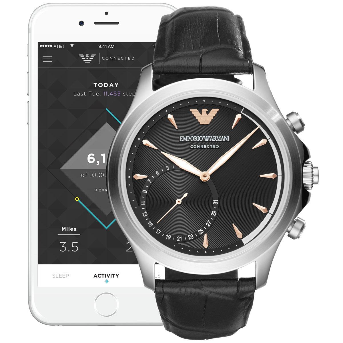 エンポリオアルマーニ EMPORIO ARMANI コネクテッド ハイブリッド スマートウォッチ ウェアラブル 腕時計 メンズ アルベルト ALBERTO HYBRID ART3013
