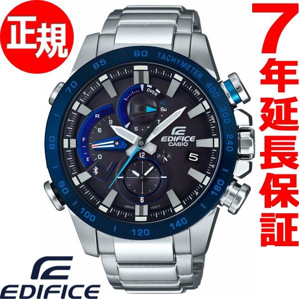 カシオ エディフィス CASIO EDIFICE Bluetooth ブルートゥース 対応 ソーラー 腕時計 メンズ RACE LAP CHRONOGRAPH タフソーラー EQB-800DB-1AJF