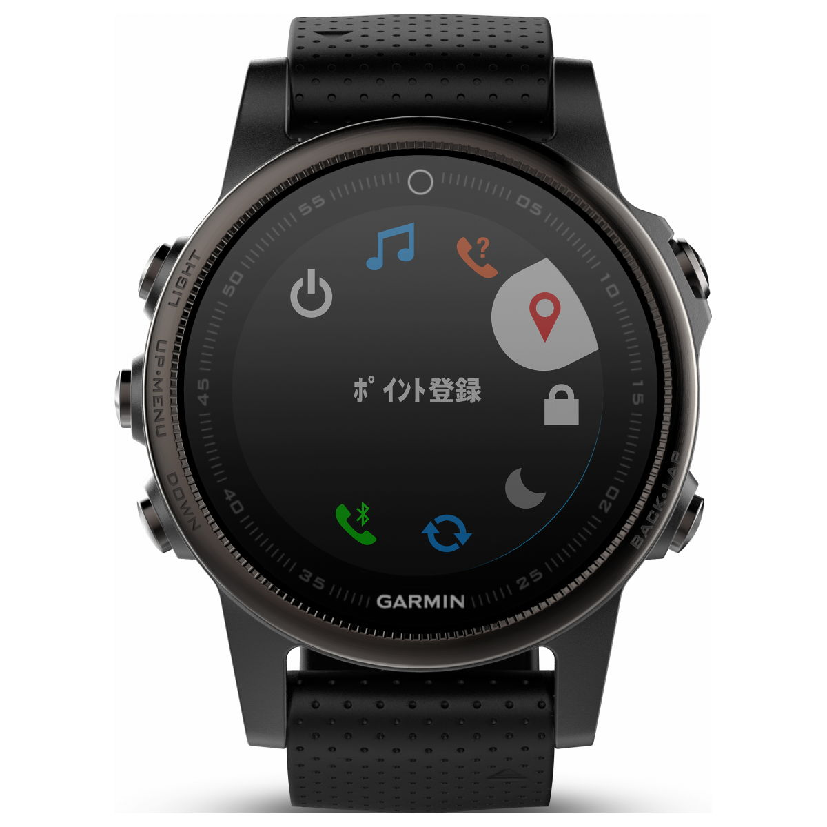ガーミン GARMIN フェニックス 5S fenix 5S Sapphire Black スマートウォッチ ウェアラブル端末 腕時計 メンズ レディース 010-01685-44