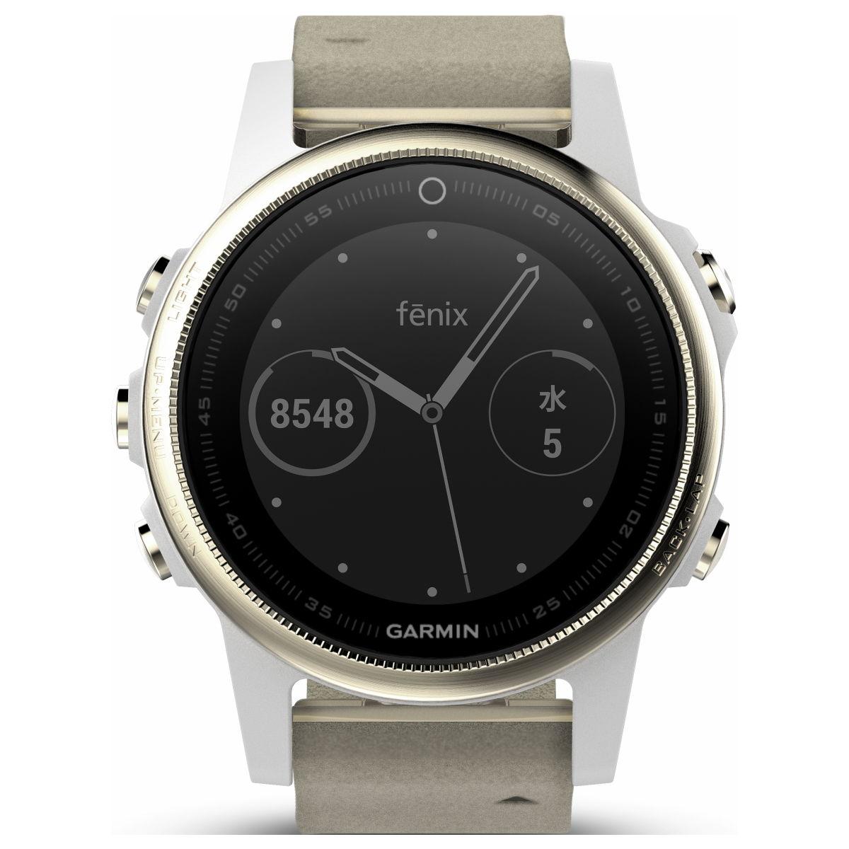 ガーミン GARMIN フェニックス 5S fenix 5S Sapphire Champagne Gold スマートウォッチ ウェアラブル端末 腕時計 メンズ レディース 010-01685-45