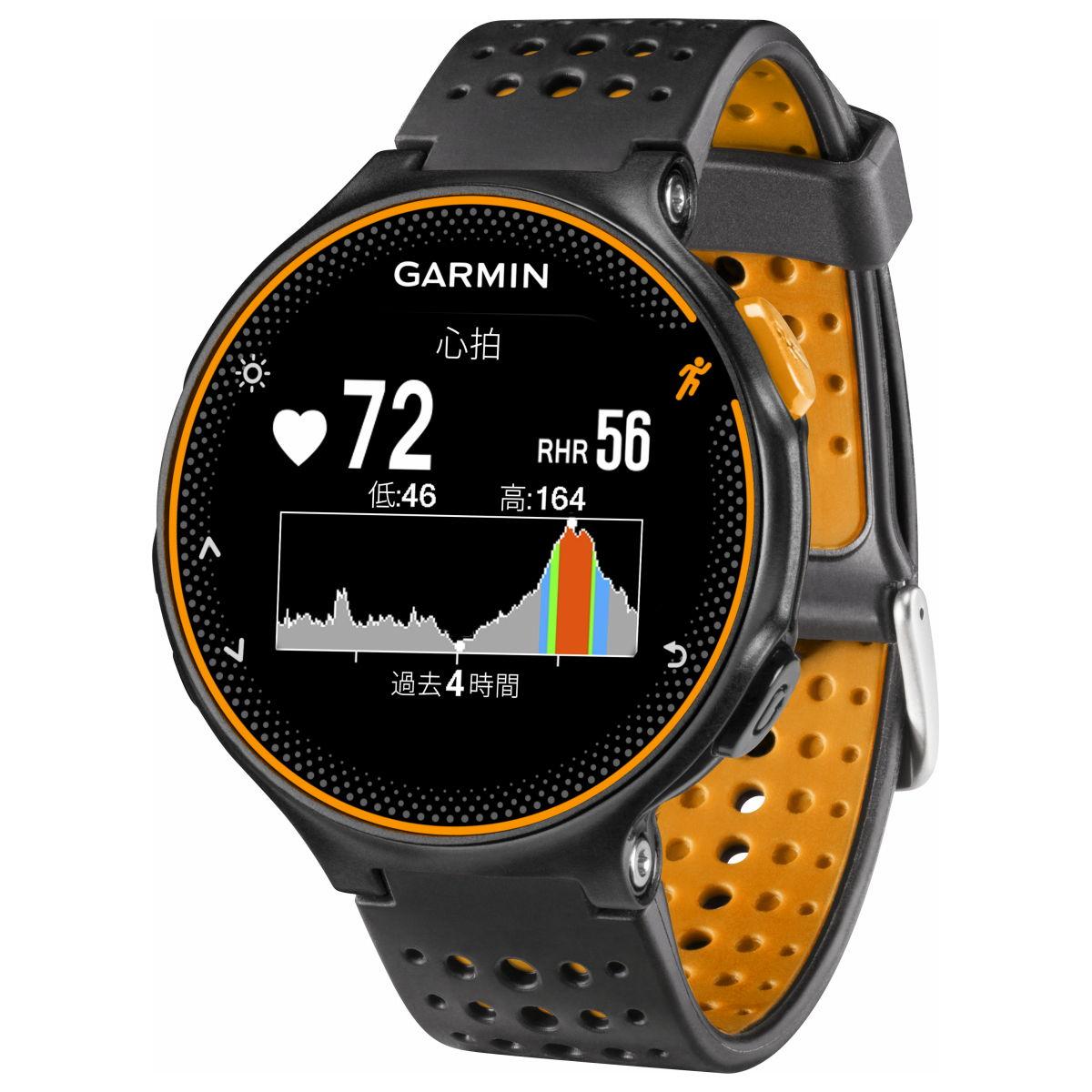 ガーミン GARMIN フォーアスリート235J ForeAthlete235J Black Orange スマートウォッチ ウェアラブル端末 腕時計 メンズ レディース 010-03717-6J