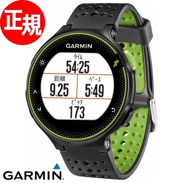 ガーミン GARMIN フォーアスリート235J ForeAthlete235J Black Green スマートウォッチ ウェアラブル端末 腕時計 メンズ レディース 010-03717-6K
