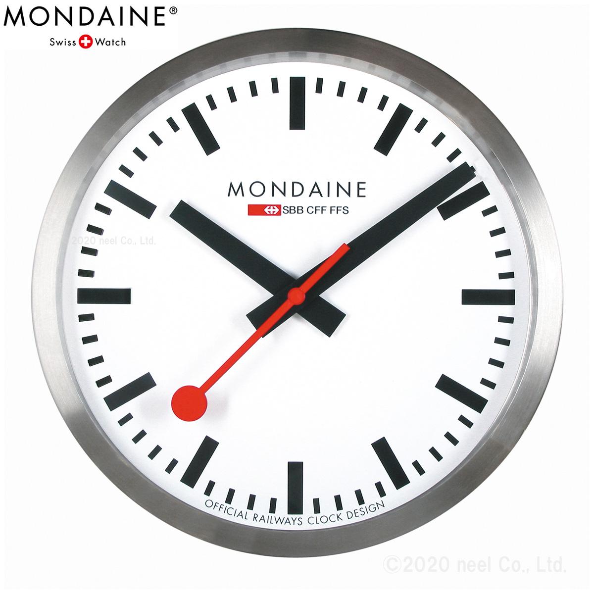 【SHOP OF THE YEAR 2018 受賞】モンディーン MONDAINE ウォール クロック Wall Clock 40cm A995.CLOCK.16SBB