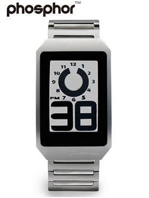 Phosphor watch PHOSPHOR mens digital e-ink electronic paper watch DIGITAL HOUR WATCH METAL DH03
