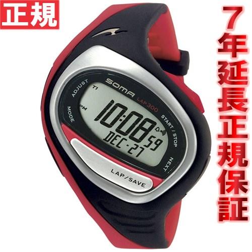 SOMA ソーマ ランニングウォッチ RunONE 300 MEDIUM ランワン ミディアムサイズ 腕時計 ブラック/レッド DWJ02-0004