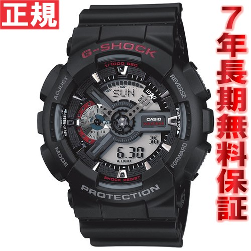 【5日0時~♪2000円OFFクーポン&店内ポイント最大51倍!5日23時59分まで】G-SHOCK ブラック カシオ Gショック 腕時計 メンズ GA-110-1AJF