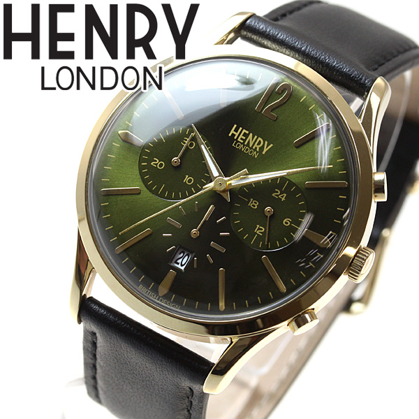 【5日0時~♪10%OFFクーポン&店内ポイント最大51倍!5日23時59分まで】ヘンリーロンドン HENRY LONDON 腕時計 メンズ レディース CHISWICK HL41-CS-0106