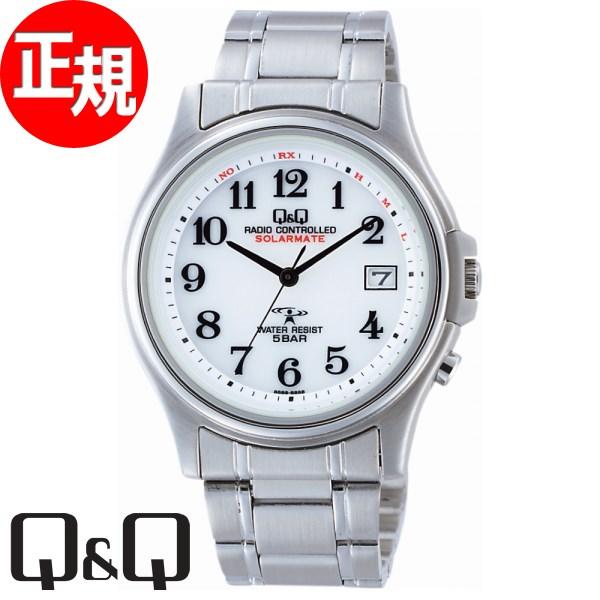 Q&Q キューアンドキュー ソーラー 電波時計 腕時計 メンズ ソーラーメイト SOLARMATE シチズン CITIZEN HG00-800