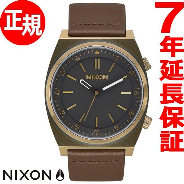 ニクソン NIXON ブリゲイド レザー BRIGADE LEATHER 腕時計 メンズ ブラス/ブラック/トープ NA11782539-00